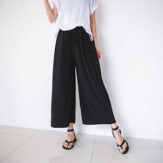 Drawcord Wide-leg Pants