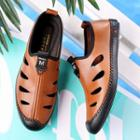 Genuine Leather Cutout Loafers
