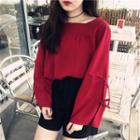 Chiffon Blouse Red - One Size
