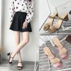 Block-heel Two-way Sandals