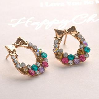 Colorful Diamond Earrings - Other Color Others - One Size