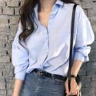 Pocket-front Boxy-fit Shirt