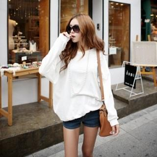 Drop-shoulder Pullover