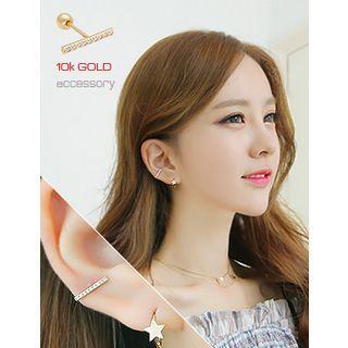 10k Gold Rhinestone Stud Earrings