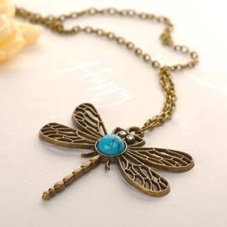 Dragonfly Necklace Copper - One Size