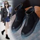 Platform Front-zip Ankle Boots