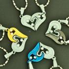 Couple Matching Heart Pendant Necklace