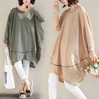 Asymmetric Long-sleeve T-shirt Dress