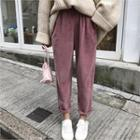 Corduroy Harem Pants Raspberry - One Size