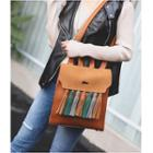 Color Block Tassel Backpack