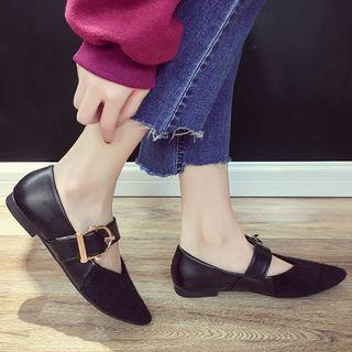 Pointy-toe Strapped Flats