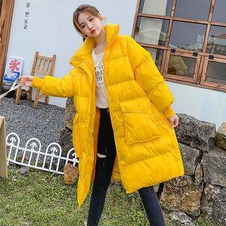 Stand-collar Midi Padded Coat