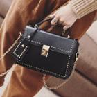 Chain Strap Studded Crossbody Bag