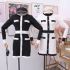 Colorblock Knit Mini Dress