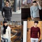 Round-neck Colored Pullover