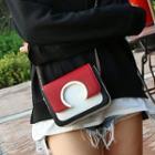 Faux-leather Colorblock Mini Shoulder Bag