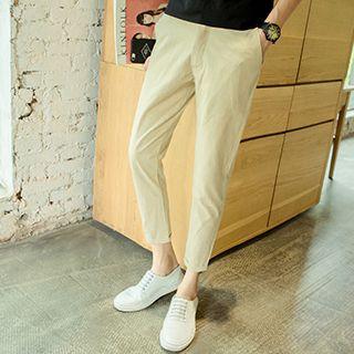 Plain Linen Cotton Pants