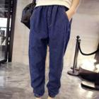 Gathered-cuff Baggy Jeans