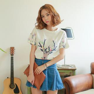 Print Short-sleeve Top