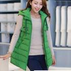 Hooded Padded Long Vest