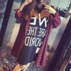 Plaid Letter Hooded Jacket