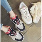 Lettering Chunky Platform Sneakers