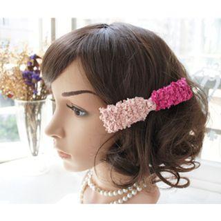 Flannel Bow Hair Clip