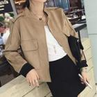 Faux Suede Cropped Jacket