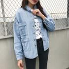 Loose-fit Long-sleeve Denim Jacket