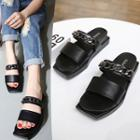 Chain Detail Slide Sandals