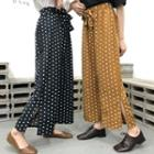 Dotted Cropped Wide-leg Pants