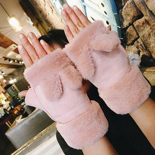 Rabbit Ear Half Fingers Gloves