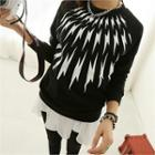 Round-neck Patterned Pullover