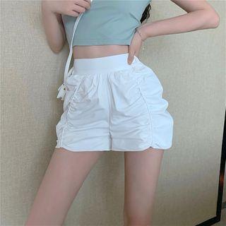 High-waist Ruffled Shorts