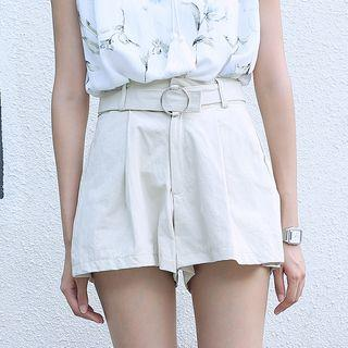 Wide Leg Shorts With Belt