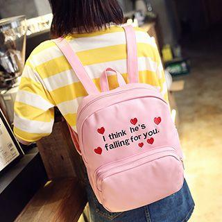 Letter Embroidered Backpack