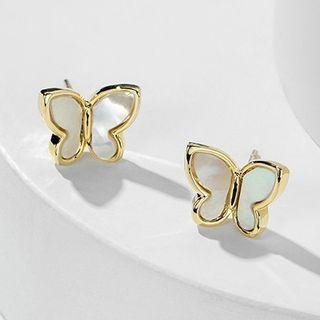 Shell Butterfly Earring Gold - One Size