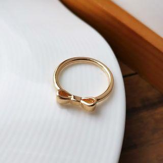 Bow Ring 1 Pc - Ring - Bow - Gold - One Size