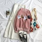 Rabbit Applique Sweater / Cargo Pants