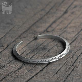 Engraved Open Bangle