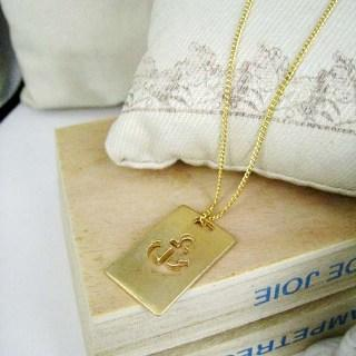 Gold Sailor Charm Necklace Gold - One Size