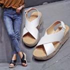 Slingback Espadrille Platform Wedge Sandals