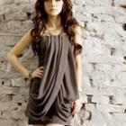 Drape Sleeveless Chiffon Dress