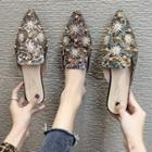 Pointed Embellished Mules