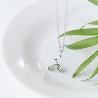 S925 Silver Leaf Pendant Necklace