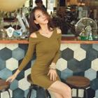 Cutout-sleeve Knit Dress