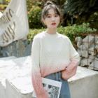 Argyle Flower Knit Sweater