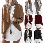 Wide-collar Belted Jacket