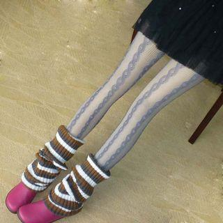 Cable Knit Fishnet Tights