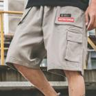 Embroidered Tag Cargo Shorts